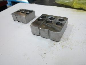 Комплект меки челюсти (стъпка 1.5mm x 60o) за xидрозатегателен патронник на CNC патронен струг с наклонени направляващи