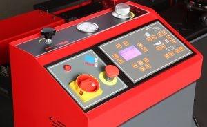 PLC Управление с дисплей на лентоотрезна машина пълен автомат и хидравлично менгеме Karmetal 300 OSA