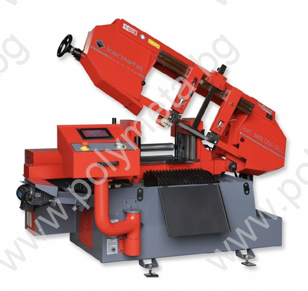 Лентоотрезна машина пълен автомат и хидравлично менгеме Karmetal 300 OSA PLC