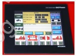 PLC Управление с тъч скрийн и програмиране размер и брой детайли на лентоотрезна машина пълен автомат и хидравлично менгеме Karmetal 300 OSA PLC