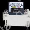 Серво подаващо устройство и изправящо устройство AGM на автоматичирана линия, състояща се от механична преса с пневматичен съединител FRESAN FP 60, размотаващо устройство, изправящо и подаващо устройство FRESAN