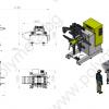 Капацитет на размотаващо и подаващо устройство AGM CL 302 на автоматичирана линия, състояща се от механична преса с пневматичен съединител FRESAN FP 60, размотаващо устройство, изправящо и подаващо устройство FRESAN