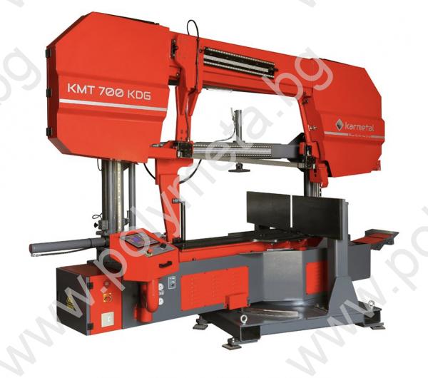 Лентоотрезна машина пълен автомат, хидравлично менгеме и рязане под ъгъл Karmetal 700 ODG PLC